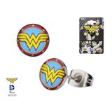 Wonder Woman Logo - Round Ear Studs