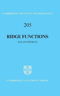 Ridge Functions by Allan Pinkus
