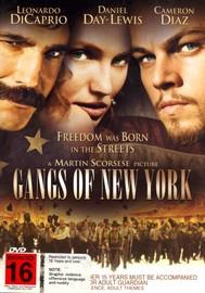 Gangs Of New York on DVD