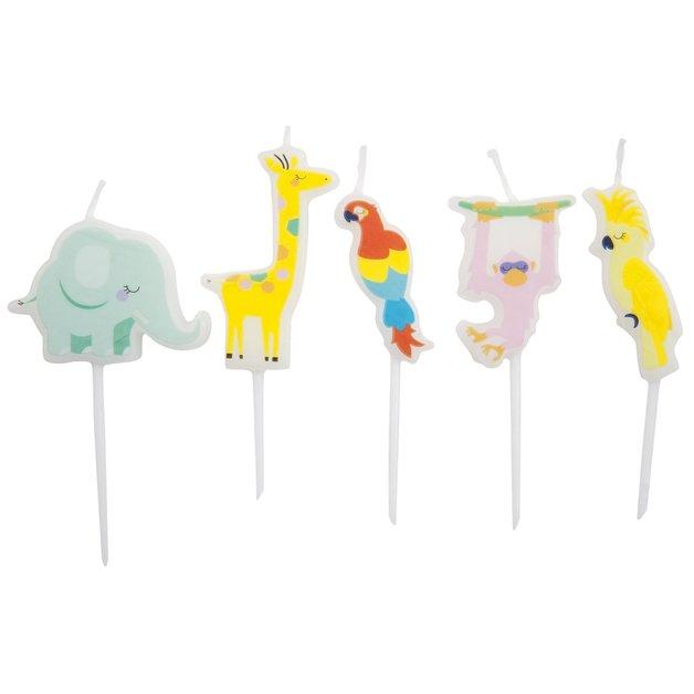 Sunnylife Birthday Candles - Safari (Set of 5)