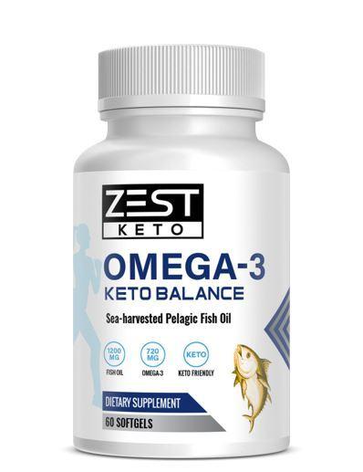 ZestKeto Omega 3 Keto Boost (60 Caps)