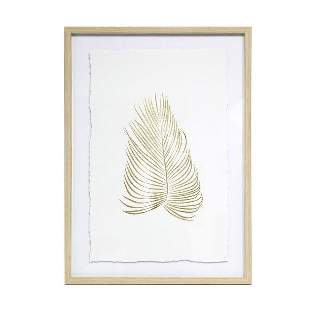 Splosh: Tranquil Gold Leaf Framed Art