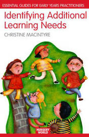 Identifying Additional Learning Needs in the Early Years: Listening to the Children by Christine Macintyre image
