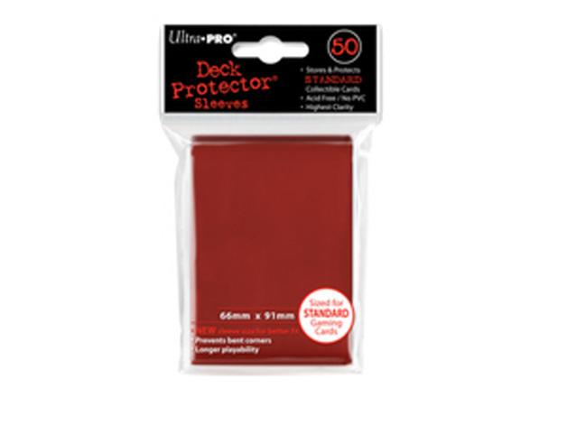 Ultra Pro Solid Deck Protectors: Lava Red (50)