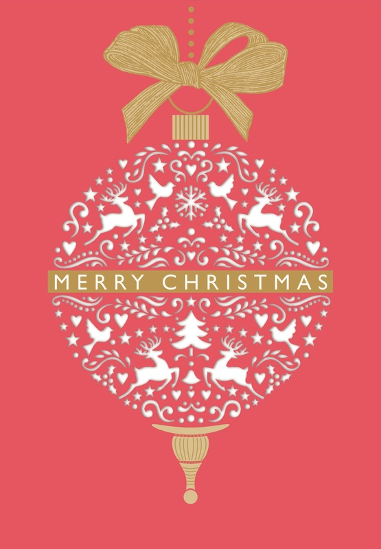 Premium Boxed Christmas Cards - Nordic Bauble (8 Pack)
