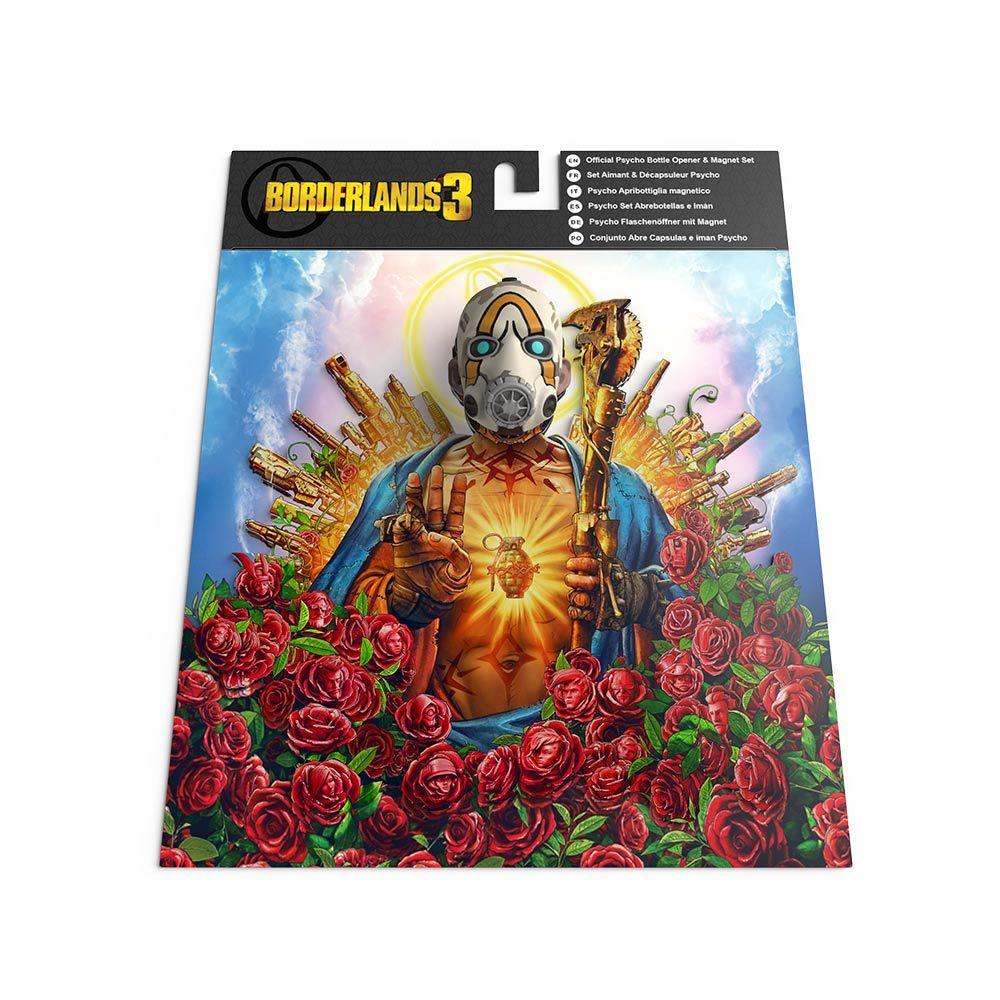 Borderlands 3: Psycho Bottle Opener and Magnet Set image