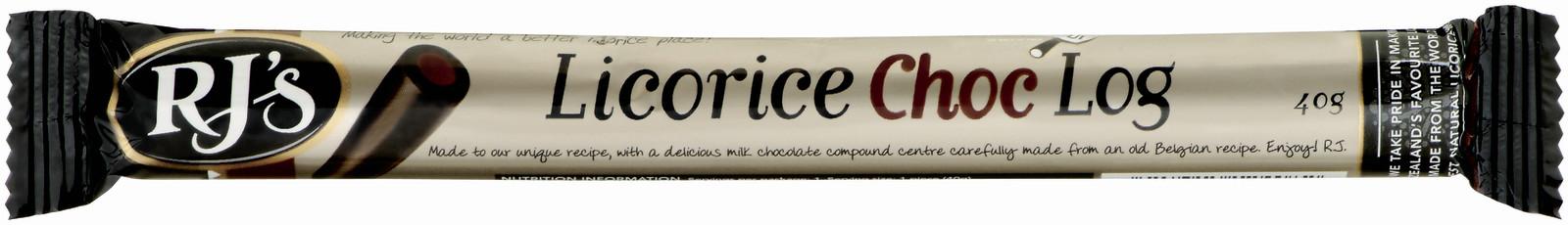 RJ's Licorice Choc Single Logs 40g (30 Pack) image