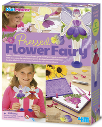 4M KidzMaker: Pressed Flower Fairy - Craft Kit
