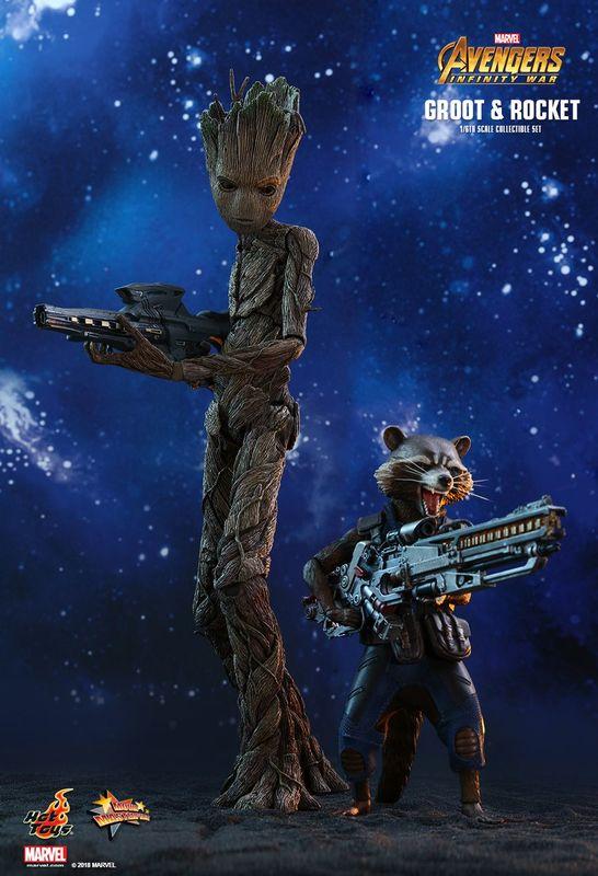 "Avengers Infinity War: Groot & Rocket - 12"" Articulated Figure Set"