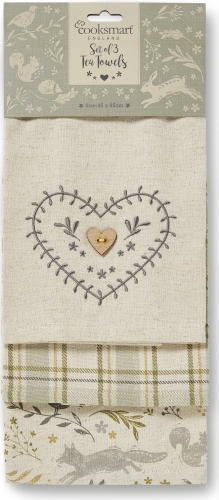 Woodland Design Cotton Tea Towels