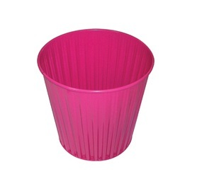 Fluteline Metal Bin - Tickle Pink