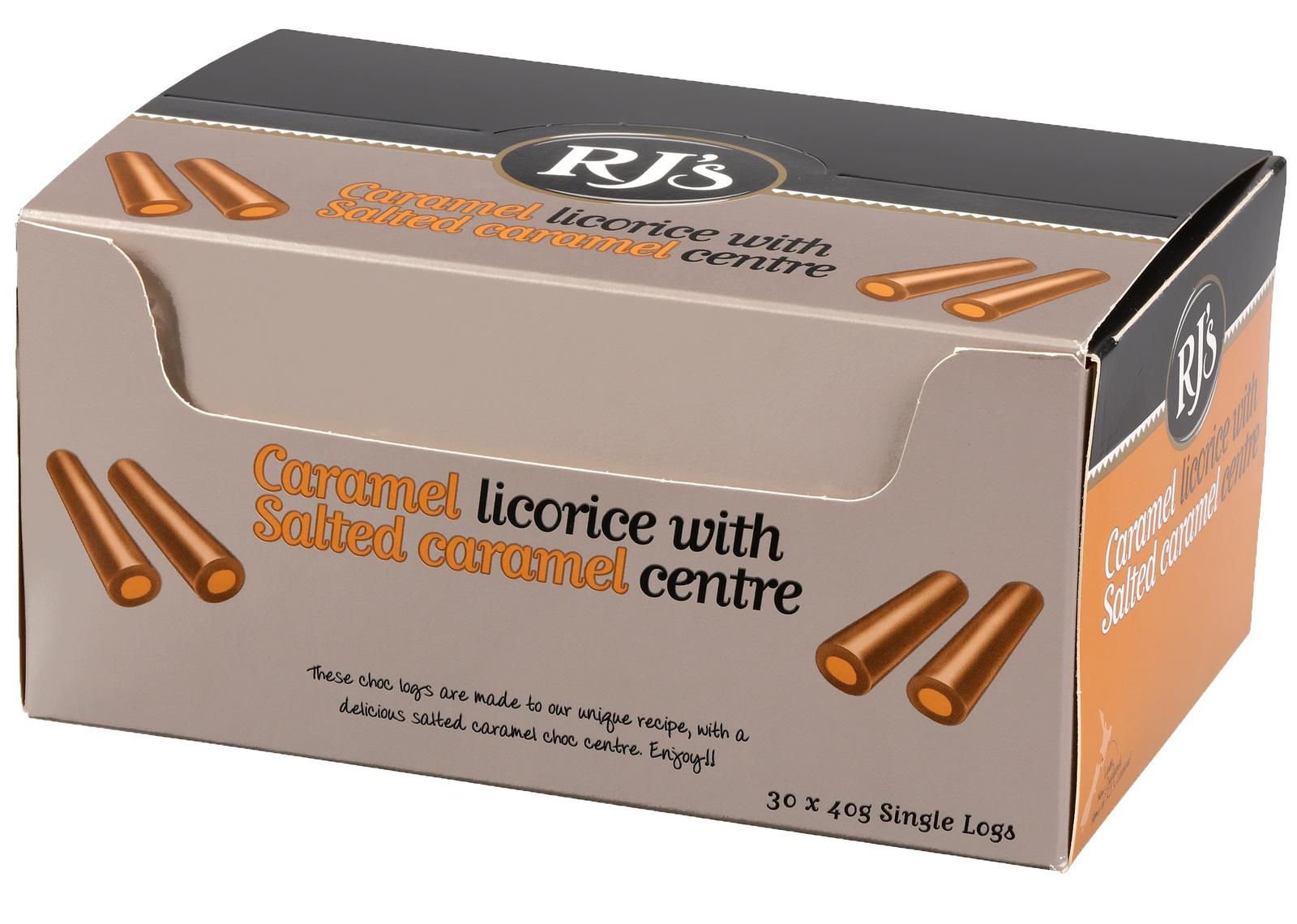Rj's Salted Choc Caramel Single Logs (30 Pieces) image