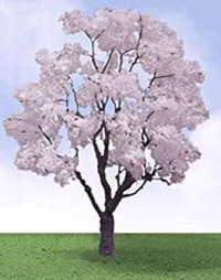 "JTT Scenic Cherry Blossom Trees 2.5"" (3pk) - H0 Scale"