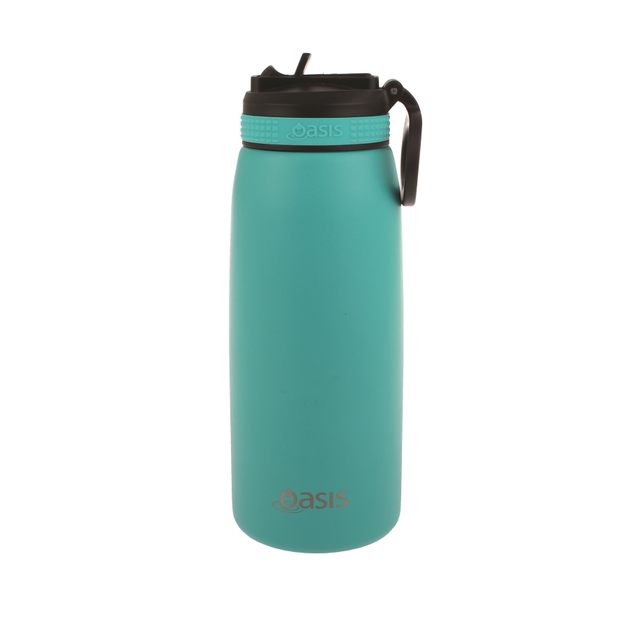 Oasis Stainless Steel Double Wall Insulated Sports Bottle - Turquoise (780ml)