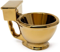 BigMouth: Golden Toilet Mug