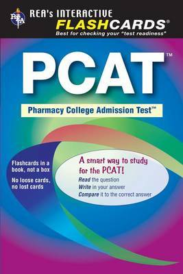 PCAT (Pharmacy College Admission Test) Flashcard Book by Staff of Research Education Association image