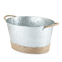 Twine: Seaside - Jute Rope Galvanized Tub