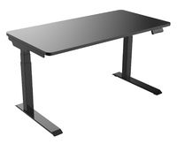 Gorilla Office: 3-Stage Motorised Height Adjustable Desk - Black/Black (1400 x 700mm)