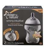Closer to Nature PP Feeding Bottle (260ml) - 2 Pack