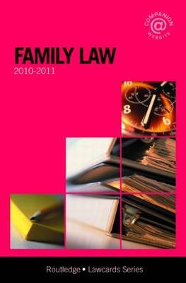 Family Lawcards: 2010-2011