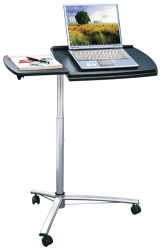 Croxley Mobile Laptop Trolley (Black/Silver)