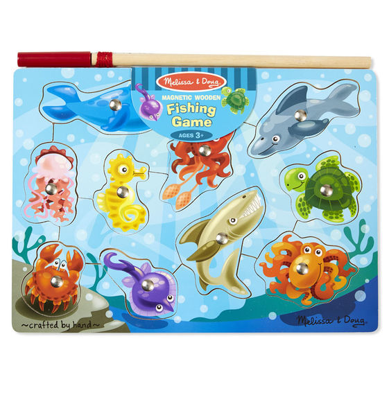 Melissa & Doug: Magnetic Wooden Fishing Puzzle Game