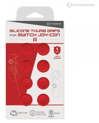 Hyperkin Switch Joy-Con Silicone Thumb Grips 8-Pack (Red) for Nintendo Switch