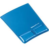 Fellowes Mouse Pad & Wrist Rest - Gel Clear - Blue