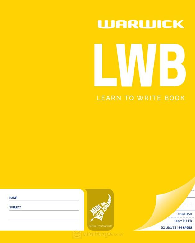 Warwick LWB 32lf 198x210mm Learn to Write Exercise Book