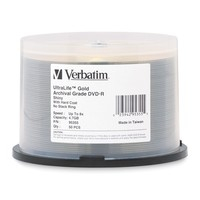 Verbatim DVD-R 4.7GB Gold Archival Grade HC 8x (50 Pack)