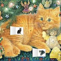 Ivory Cats Advent Calendar (with Stickers)
