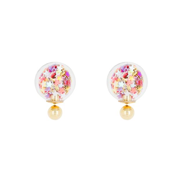 Short Story: Bubble Earring Star - Multi-Coloured
