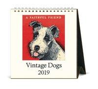 Vintage Dogs 2019 Desk Calendar