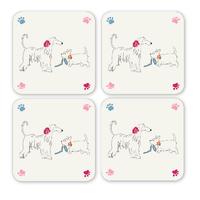 Cooksmart: Dapper Dogs Coasters - Set of 4