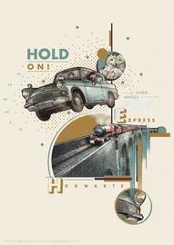 Harry Potter: Premium Art Print - Hold On! (Flying Car)