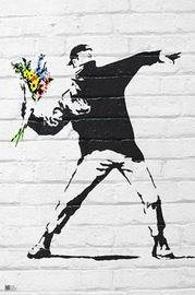 Banksy Flower Bomber Wall Poster (120)