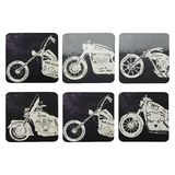 Maxwell & Williams - Motorcycles Coasters (Set of 6)