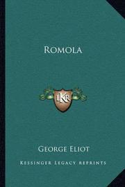 Romola by George Eliot