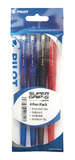 Pilot Super Grip-G Stick Ballpoint Pen - Assorted (4 Pack)