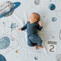 Little Unicorn: Photo Blanket & Milestone Set - Planetary