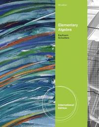 Elementary Algebra, International Edition by Karen Schwitters image