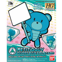 HGPG 1/144 Petit'gguy Diver Blue & Placard - Model Kit