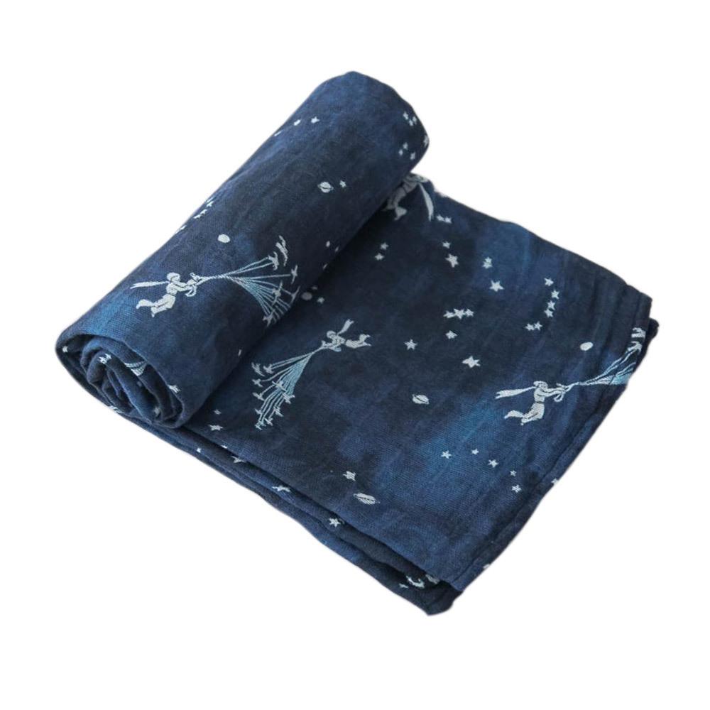 Little Unicorn: Cotton Muslin Swaddle - Flock of Stars (Single) image