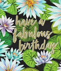 Honolulu Birthday Greeting Card - Lily Pad