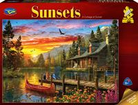 Holdson: 1000 Piece Puzzle - Sunsets (A Cottage at Sunset)