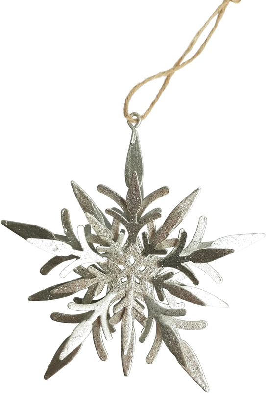 Urban Products: Silver Snowflake - Hanging Ornament
