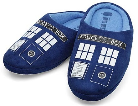 Doctor Who TARDIS Slippers (Medium)