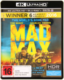 Mad Max: Fury Road (4K UHD + Blu-ray) DVD