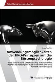 Anwendungsmoglichkeiten Der Hro-Prinzipien Auf Die Borsenpsychologie