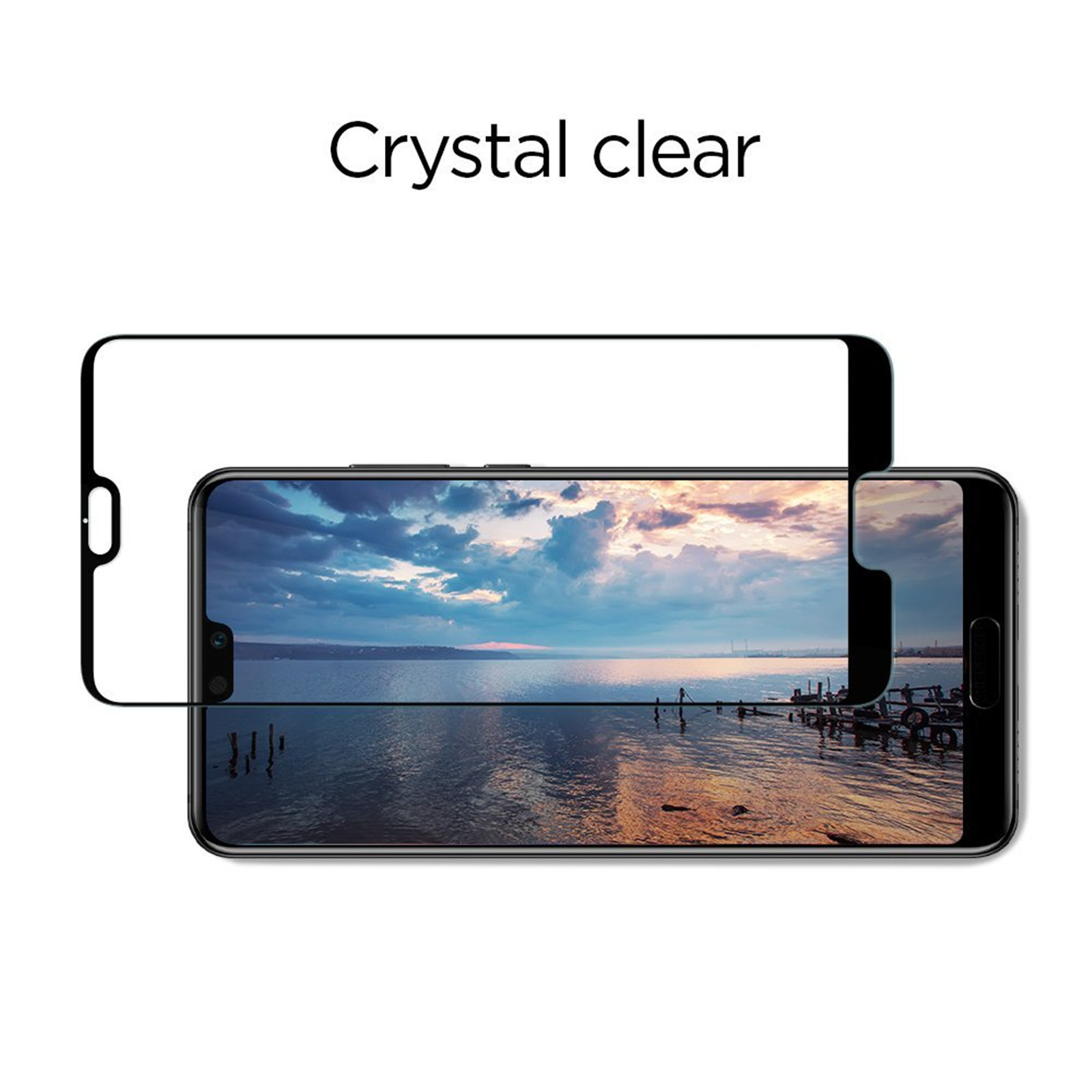 finest selection 214ef 5ab7d Spigen Huawei P20 Pro Full Coverage PremiumTempered Glass Screen Protector